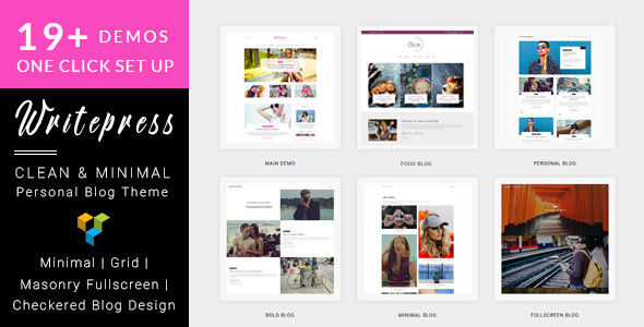 Writepress v1.0.4 Personal Blog and Magazine WordPress Theme 1