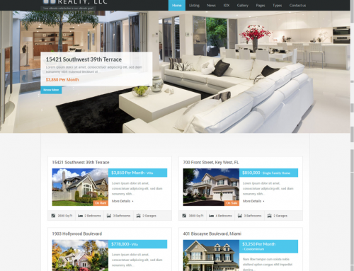 Real Estate Wordpress Website Free Installation + Free Hosting 1