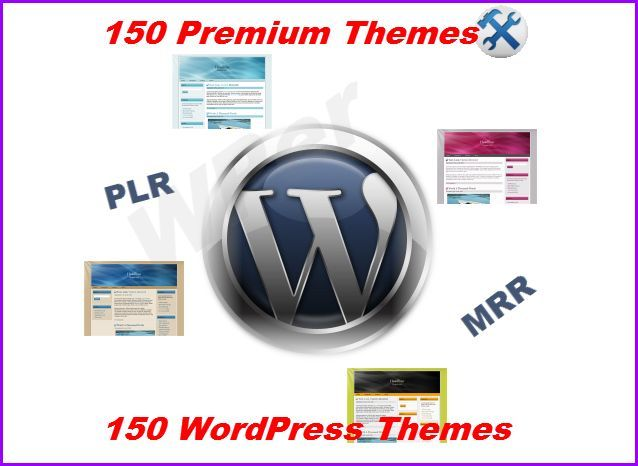 150 Premium Wordpress Themes with PLR and Master Resal Rights 1