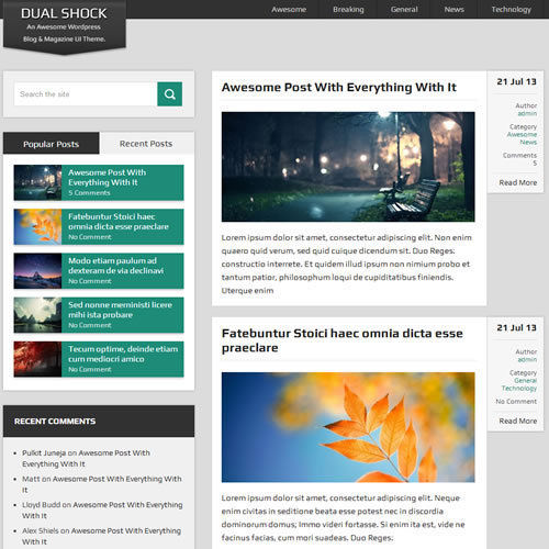 WordPress 'DUALSHOCK' Website News / Magazine Theme Business (FREE HOSTING) 1