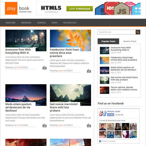 WordPress 'PLAYBOOK' Website News / Magazine Theme Business (FREE HOSTING) 1