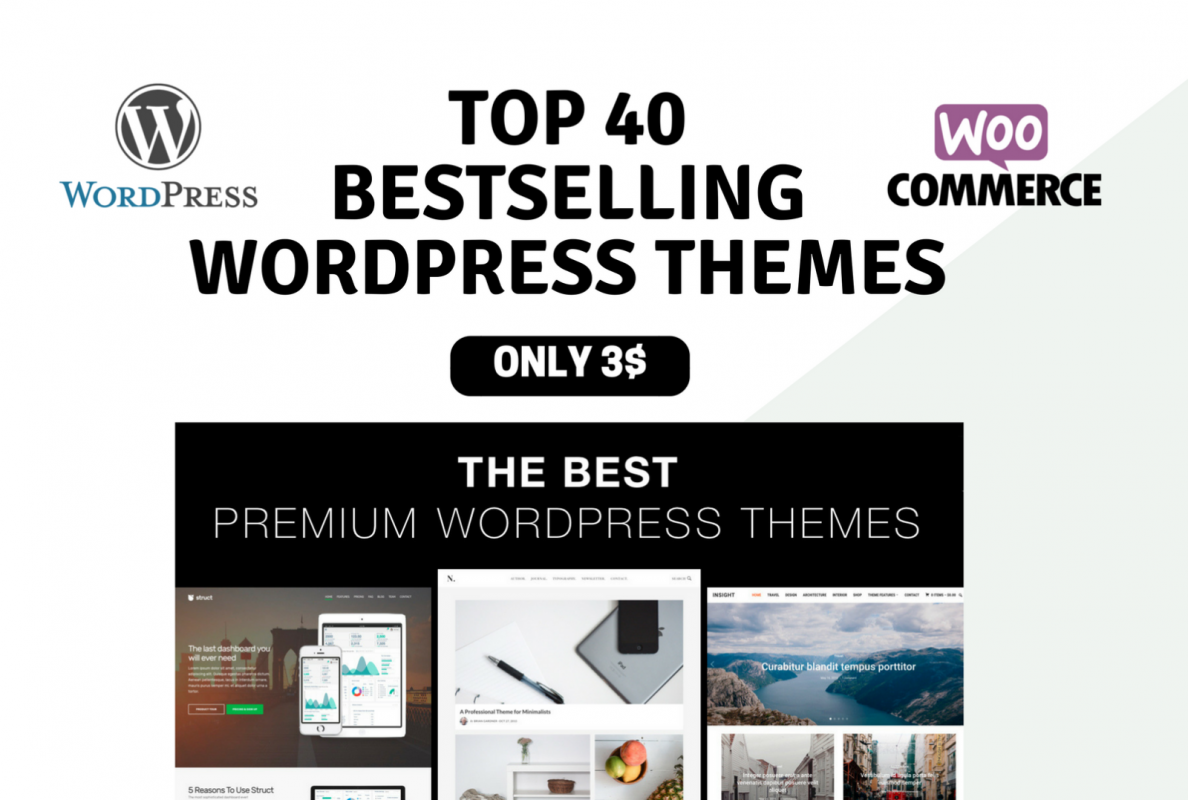 PREMIUM Collection Bestselling WORDPRESS THEMES - Only 3$ each! 1