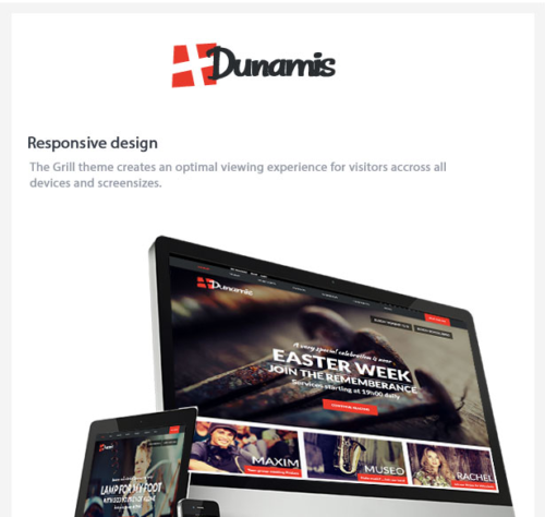 Dunamis Responsive Website Modern Church WordPress Theme 1