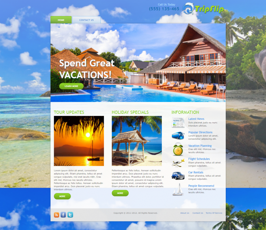 Travelling Wordpress theme #2 (email download delivery) 1