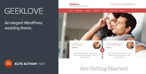 GeekLove v2.2 - A Responsive WordPress Wedding Theme 16