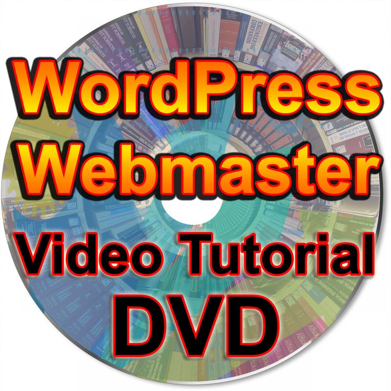 WordPress Webmaster Video Tutorial Web Site Admin Administrator How To MP4 DVD 10