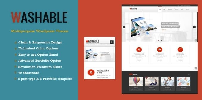 Washable - Multipurpose Wordpress Premium Theme 1