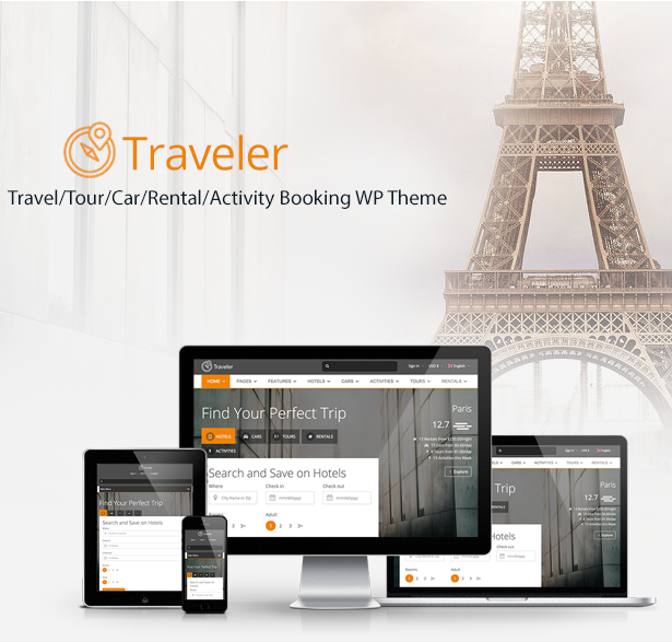 Traveler - Travel Booking WordPress Theme 10