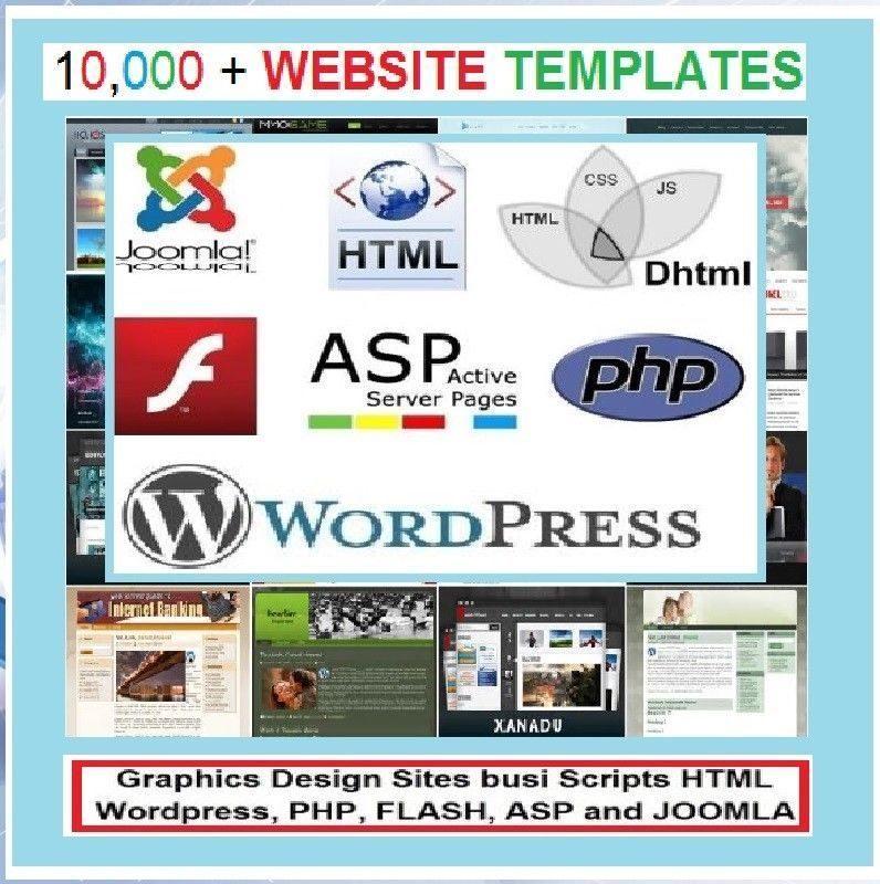 10,000 Website Templates FLASH WORDPRESS JOOMLA & Others #StateOfArt 1