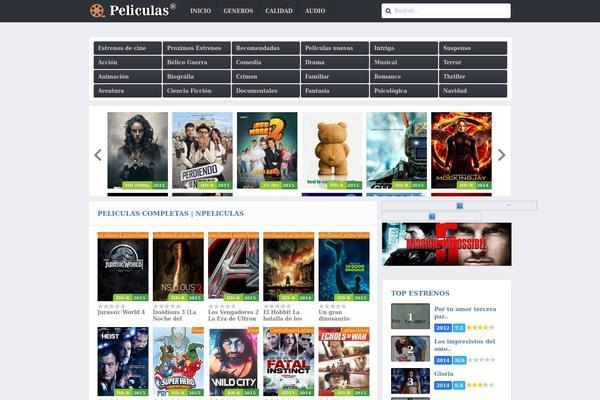 Movies Wordpress theme Premium multi languges 3