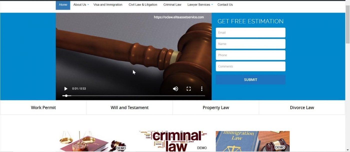 Lawyer Website Template Wordpress with Generic Video Mobile 12