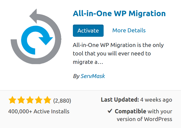 AIOWPM All-in-one WP Migration Unlimited Extension Wordpress Plugin By ServMask 11
