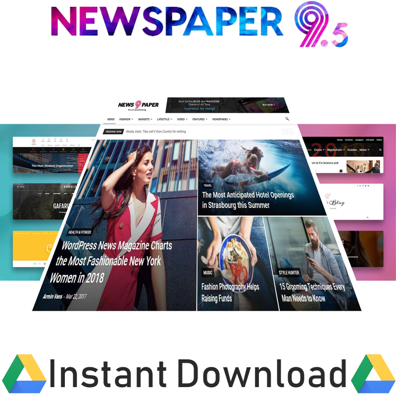 Newspaper Wordpress Theme with All Plugins And Liftime Updates 3