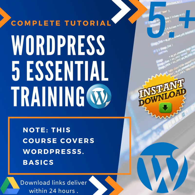 Wordpress 5 Training Tutorial- WordPress Essential Training-Complete Video Guide 1