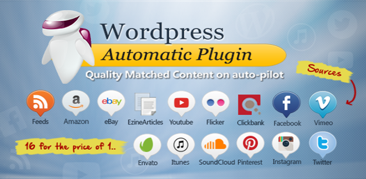 WordPress Automatic Plugin Import Content From Websites - Latest Version 1