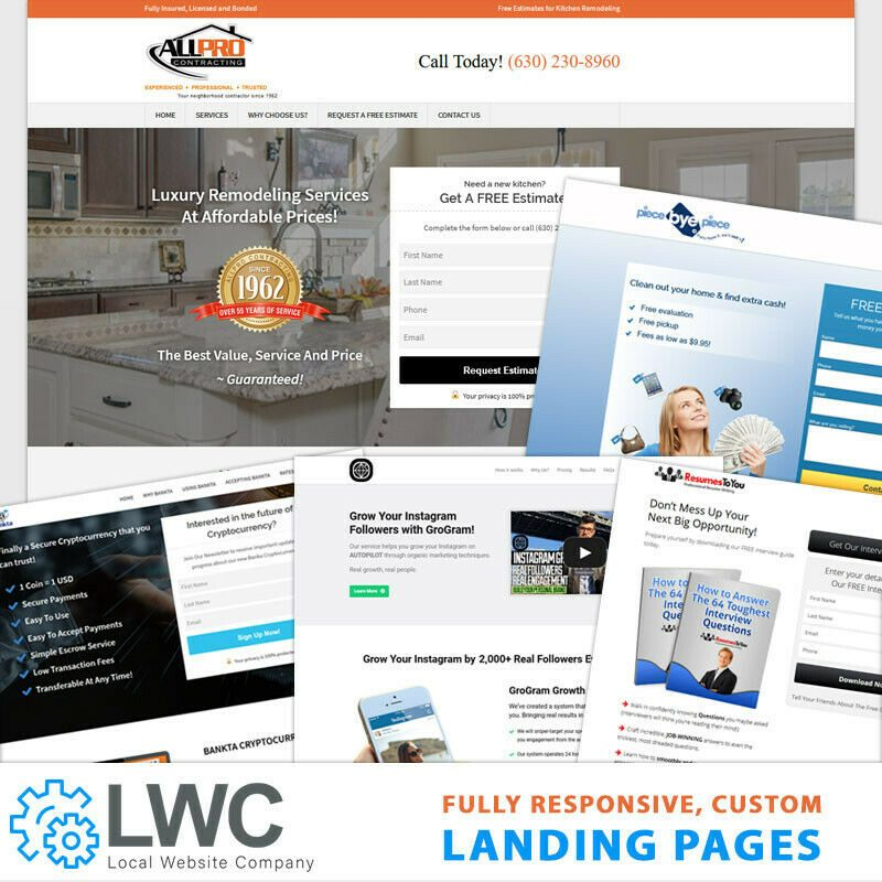Custom Professional Responsive Wordpress Landing Page Design and installation. 1