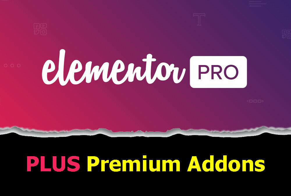 Elementor PRO + Premium Addons | WordPress Plugin | Latest Version 1