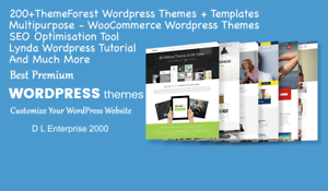 300 THEMEFOREST WORDPRESS + WOO THEMES PACK + PLUGINS +TUTORIALS 1