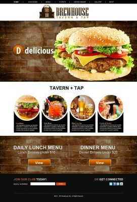 Restaurant | Custom Business WordPress Website + Installation/admin. + 1 Domain. 8