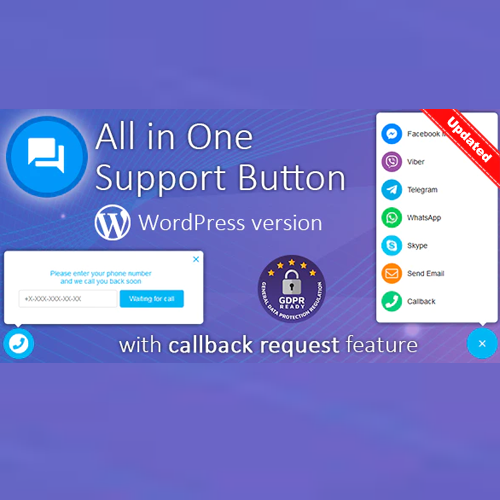 All in One Support Button + Callback Request Best WordPress Plugin - Updated 13